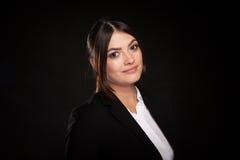 Portrait of beautiful successful businesswoman in studio photo Stock Images