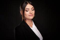 Portrait of beautiful successful businesswoman in studio photo Stock Photography