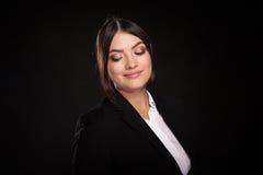 Portrait of beautiful successful businesswoman in studio photo Stock Photos