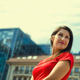 Portrait of a beautiful successful woman Royalty Free Stock Photos