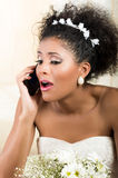 Portrait of beautiful surprised emotional bride Royalty Free Stock Photography