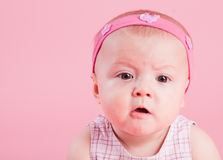 Portrait of the beautiful surprised girl Royalty Free Stock Photos