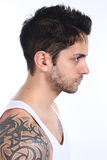 Portrait of a beautiful tattooed man Royalty Free Stock Photo