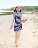 Portrait of the beautiful teen girl near the sea Royalty Free Stock Photography