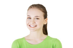 Portrait of a beautiful teen woman. Royalty Free Stock Photography