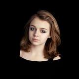 Portrait of beautiful teenage blond girl Stock Image