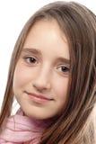 Portrait of the beautiful teenage girl. Royalty Free Stock Photos