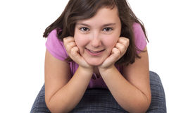 Portrait of beautiful teenage girl Royalty Free Stock Image