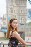 Portrait of a beautiful teenage girl in London Stock Photos