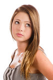 Portrait of beautiful teenage girl smiling Stock Photos
