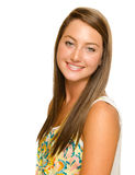 Portrait of beautiful teenage girl smiling Royalty Free Stock Images