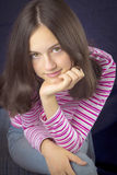 Portrait of beautiful teenage girl smiling Royalty Free Stock Photography