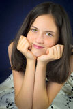 Portrait of beautiful teenage girl smiling Royalty Free Stock Photos