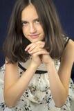 Portrait of beautiful teenage girl smiling Stock Photos