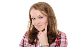 Portrait of a beautiful teenager Stock Image