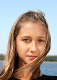 Portrait of the beautiful teenager girl Royalty Free Stock Photography