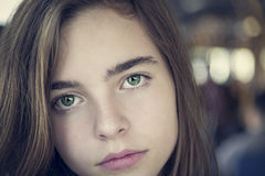 Portrait of a beautiful teenager girl Stock Image