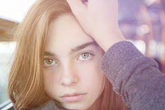 Portrait of a beautiful teenager girl Royalty Free Stock Photography