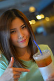 Portrait of beautiful Thai girl Stock Image