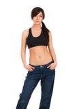 Portrait of a beautiful thin woman Stock Image