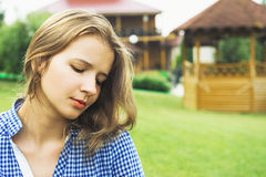 Portrait of a beautiful thoughtful girl Royalty Free Stock Photo