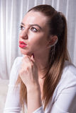 Portrait of a beautiful tough looking woman Royalty Free Stock Photos