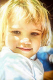 Portrait of a beautiful two year old  girl with blonde hair Royalty Free Stock Photography