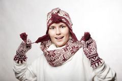 Portrait of beautiful whitehair girl Royalty Free Stock Photos