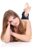 Portrait of beautiful woman Stock Photos