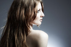 Portrait of the beautiful woman Royalty Free Stock Images