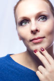 Portrait of a beautiful woman. Royalty Free Stock Photos