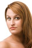 Portrait of a beautiful woman. Over white background Stock Images