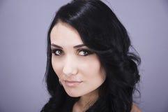 Portrait of a beautiful woman. Portrait of a young beautiful woman, studio shot Stock Photo