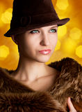 Portrait of beautiful woman Royalty Free Stock Photo