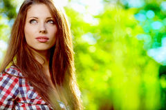 Portrait of a beautiful woman Stock Images