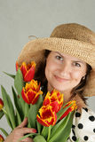Portrait of a beautiful woman Royalty Free Stock Image