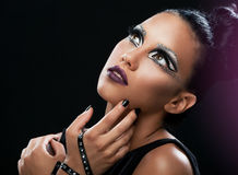 Portrait of a beautiful woman with an amazing make up Royalty Free Stock Photo