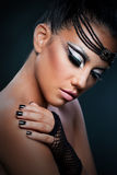 Portrait of a beautiful woman with an amazing make up Stock Image