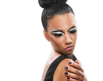 Portrait of a beautiful woman with an amazing make up Stock Images