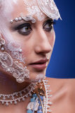 Portrait of Beautiful woman with artistic creative make up Royalty Free Stock Photography