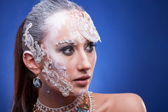 Portrait of Beautiful woman with artistic creative make up Royalty Free Stock Photo