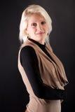Portrait of a beautiful woman on a black backgroun Royalty Free Stock Photo