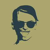 Portrait of beautiful woman in black sunglasses. Royalty Free Stock Image