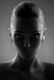 Portrait Of Beautiful Woman in Black & White Stock Photos