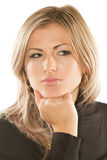 Portrait of beautiful  woman with blondy hair Stock Photo