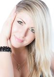 Portrait of beautiful  woman with blondy hair Stock Photos
