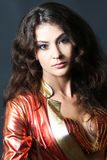 Portrait of beautiful woman brunette Stock Image