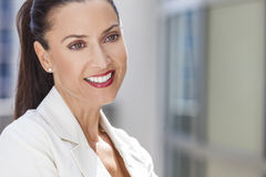 Portrait of Beautiful Woman or Businesswoman Stock Image