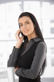Portrait of beautiful woman on call Stock Photography