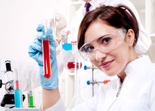 Portrait of a beautiful woman chemist Royalty Free Stock Photos